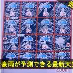 ゲリラ豪雨が予測できる最新天気予報に注目!
