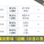 2014 高校野球 1回戦 3日目の見どころ(8/13)