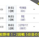 2014 高校野球 1回戦 5日目の見どころ(8/15)