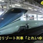 新幹線初のリゾート列車「とれいゆ つばさ」