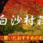 京都通に聞いたおすすめの紅葉名所《白沙村荘》