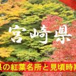 宮崎県の気になる紅葉名所と見頃時期は?