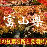 富山県の気になる紅葉名所と見頃時期は?