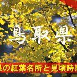 鳥取県の気になる紅葉名所と見頃時期は?