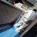 養生処理 外壁塗装工事4日目