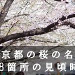 東京都の目黒川など桜の名所208箇所の見頃時期