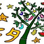 七夕の飾りを手作りする!吹き流しやくす玉、星、折り紙などの作り方