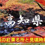 高知県の気になる紅葉名所と見頃時期は?